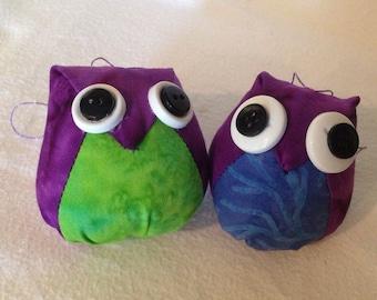Adorable Purple Fabirc Owl Ornament