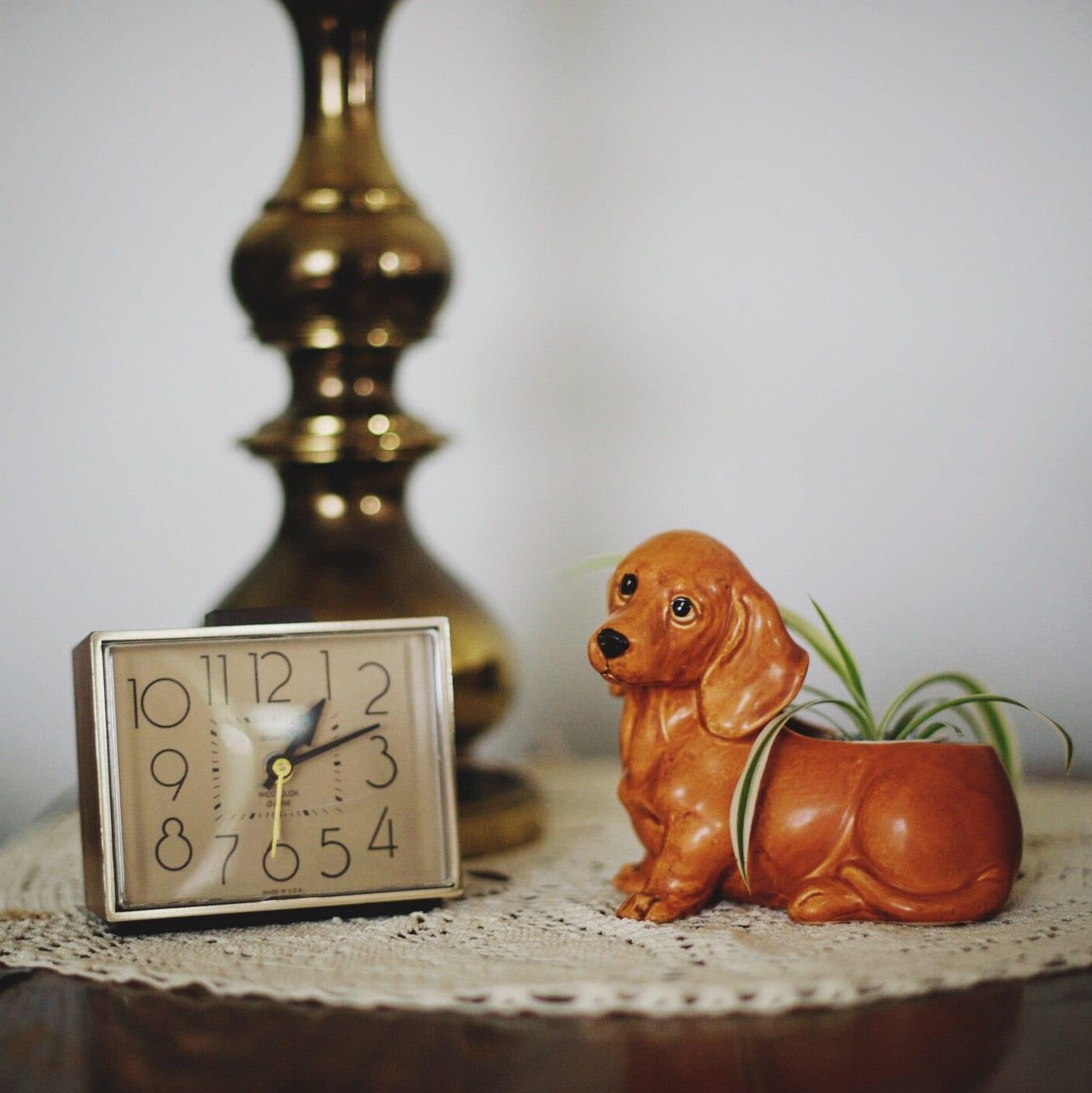 Puppy Eyed Dachshund Planter