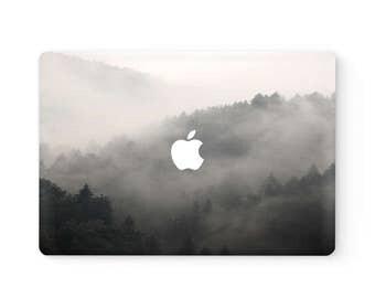 MacBook Top Front Lid Cover MacBook Decal MacBook Skin MacBook Sticker Air/Pro/Retina Touch Bar 11 12 13 15 17 inch | Misty Forest