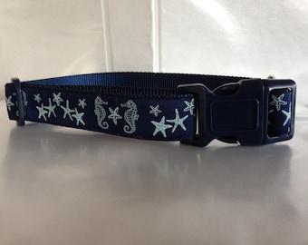 Aqua Nautical Collar