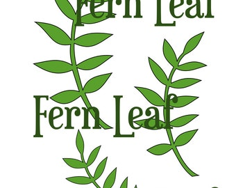 Fern Leaf SVG Cut File- Leaf template- Paper Flower Templates- Svg cutting files for Silhouette and Cricut-