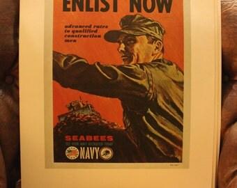 US Navy Recruitment Posters Pre-Vietnam War