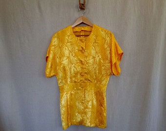 SPRING SALE! Yellow Silk Blouse