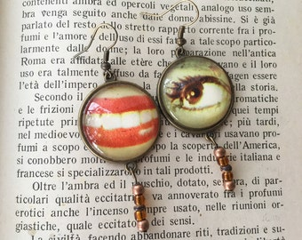 surrealist earrings