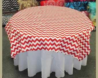 """Table Overlay 58"""" X 58"""" Square Chevron Zig Zag Print Cotton Tablecloth Cover Bridal Wedding Decoration Red"""