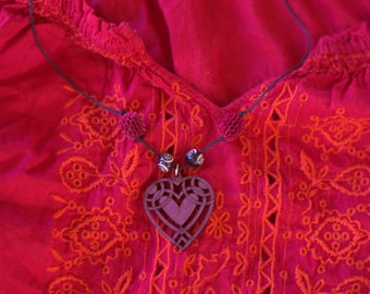 Flower of the heart necklace