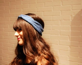 Blue braid headband