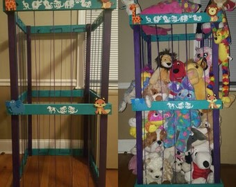 "Custom made Stuffed Animal Zoo 48"" tall 24"" wide personalized"