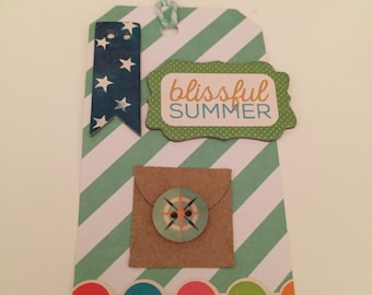 Gift tag Blissful Summer