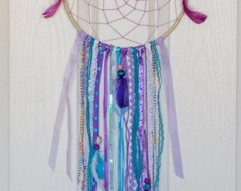 SALE 10'' dreamcatcher, purple and turquoise dream catcher, custom made