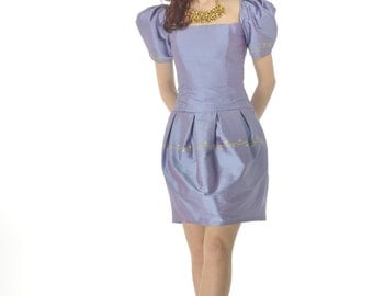 Purple silk dress by White Collection