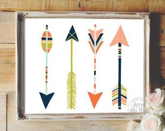 Arrow nursery print, arrow print, arrows, arrow printable, arrow wall art, nursery printable, nursery decor, nursery wall art, art print