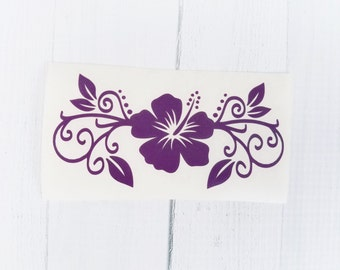 Hibiscus Flower Decal | Hibiscus decal | Flower Vinyl Decal |coffee cup decal | Flower car decal | iPhone decal | Yeti decal | Macbook Decal