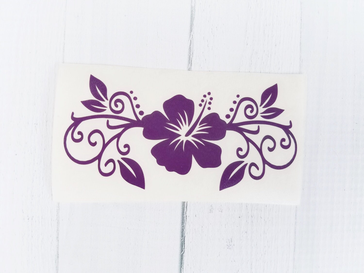 Hibiscus Flower Decal Hibiscus Decal Flower Vinyl Decal
