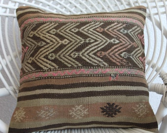 "16x16 inch pillow cover  16""x16"" hand woven turkish rustic pillow sham 40cm x 40cm pastel cushion coloral cushion sofa pillow ancient 323"
