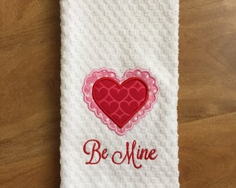 Valentine's Day Dish Towel - personalized