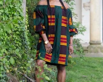 ON SALE, ankara dress, off the shoulder dress, african print dress, dress, gown