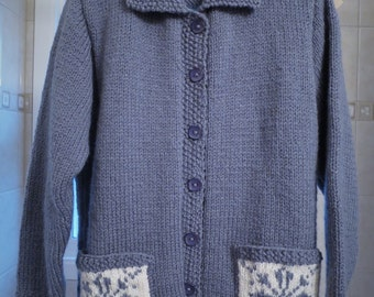 Size 10 - Buttoned Sweater with pockets-