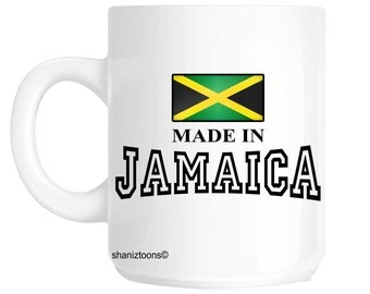 Made Born In Jamaica Birthday Gift Mug shan543