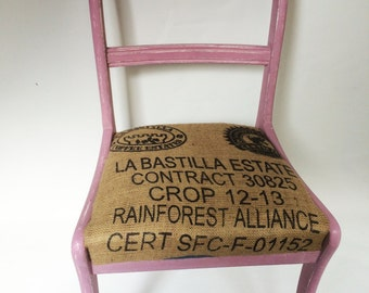 Handpainted Coffee Sack Chairs