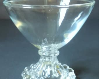 Anchor Hocking Clear Boopie Sherbet Dish