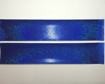 Hologram mystique iron-on fabric strips for D.I.Y. cheer bows 2.79-3.49.