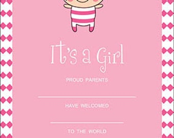 It's a Girl - Printable Invitation