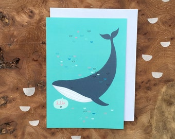 Post card - Happy WHALE