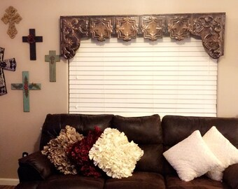 """Custom tin window cornice with arched sides 49""""-60"""""""