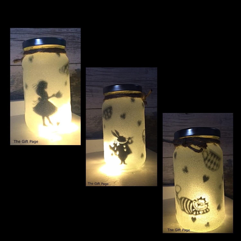 Mason Jar Fairy Garden Night Lights