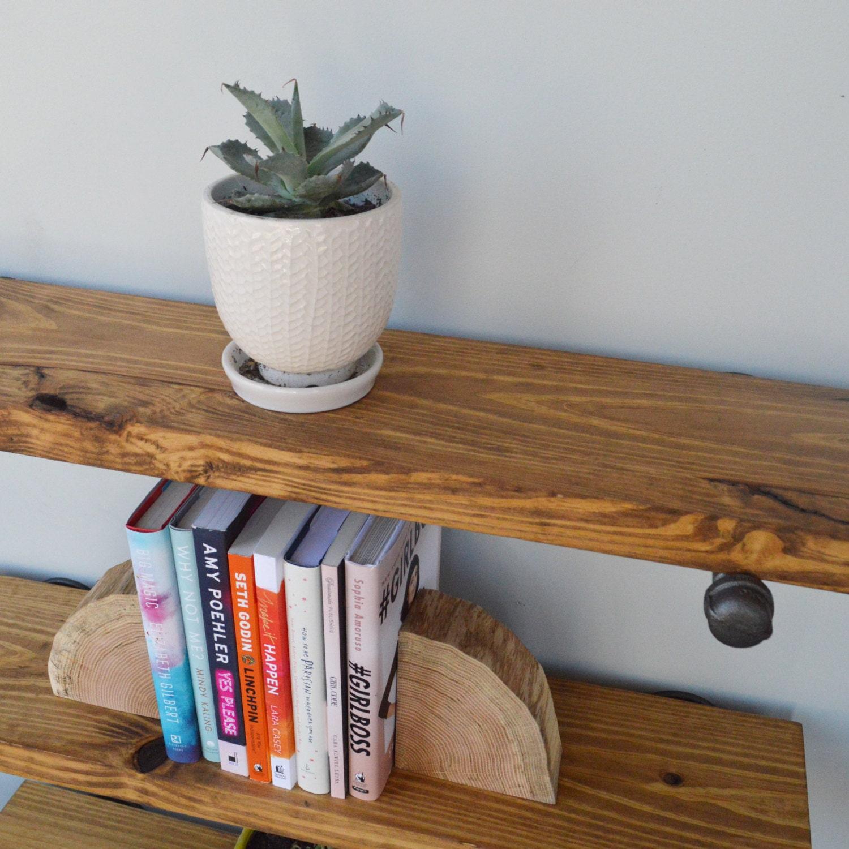 Kitchen Open Shelving Depth: Floating Shelves Rustic Floating Shelves Floating Book