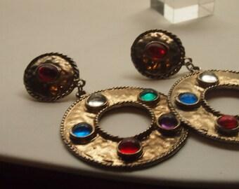 colorful dangle earrings-