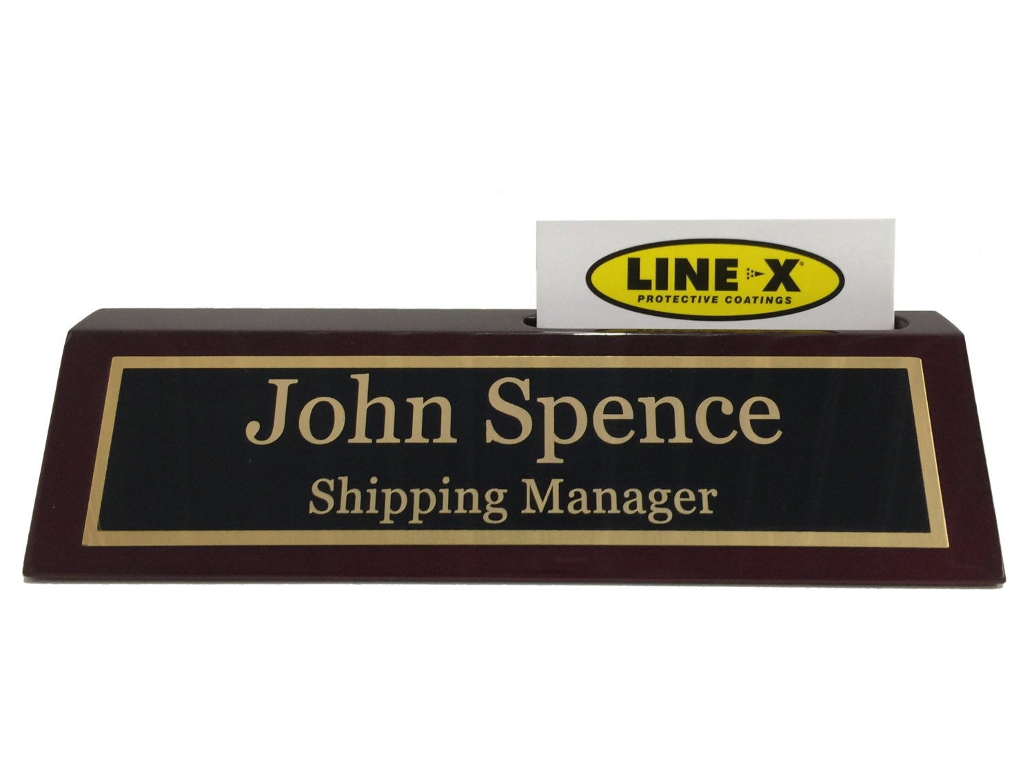 Beautiful Desk Name Plates With Business Card Holder Picture ...