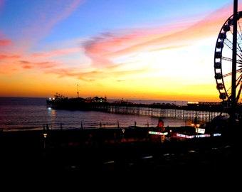 brighton pier - sunset- autumn 2015