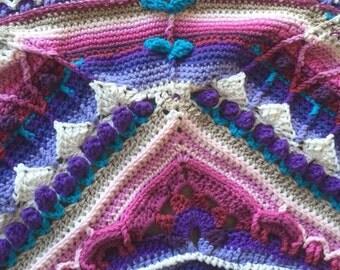 Sophies Universe, crochet blanket (150 cm x 150 cm)