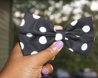 Large polka dots hairbow