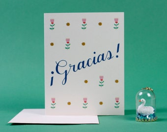 Gracias! / cute thank you greeting card