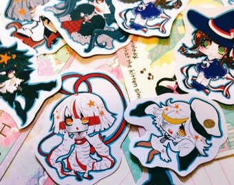 stickers: wadanohara & the great blue sea