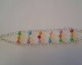 Color beads and rings bracelet