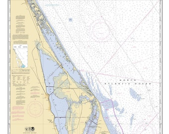 2011 Nautical Map of Ponce de Leon Inlet to Cape Canaveral Florida