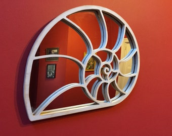 nautilus shell mirror