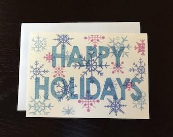 Snowflake Happy Holiday Greeting Card