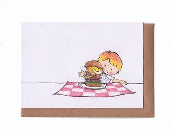 Christophe's Australian Burger - Greeting Card