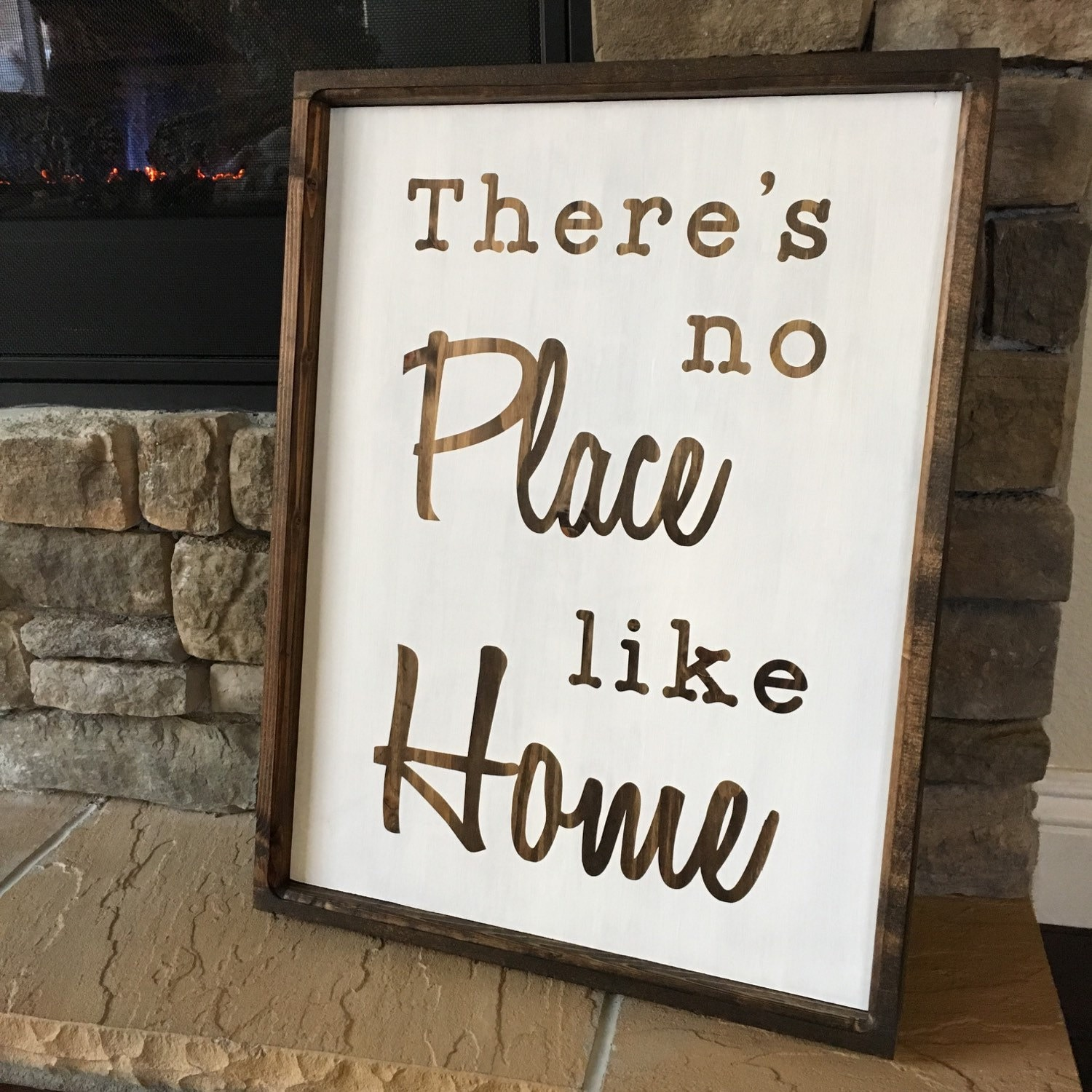 There's no place like home sign by FeatherlySigns on Etsy