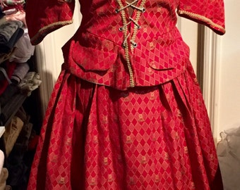 Custom Designed Columbine/Harlequin Costume - Be the Belle of the Masked Ball!