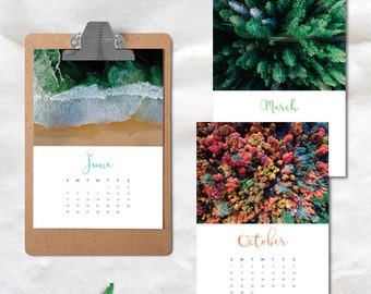 2017 Wall Calendar, Photo Calendar, 2017 Monthly Calendar, 2017 Printable Calendar, Modern Calendar, Calendar Printable, Digital Calendar