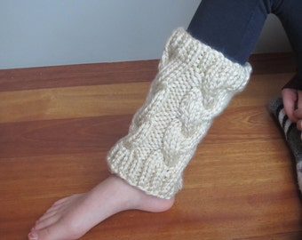 Chunky Cabled Leg Warmers