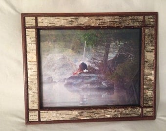 Birch bark picture frames