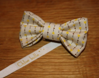 PIN bow tie yellow