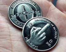 """10 PACK - Zero F*cks Given Coins! """"The Finger"""""""